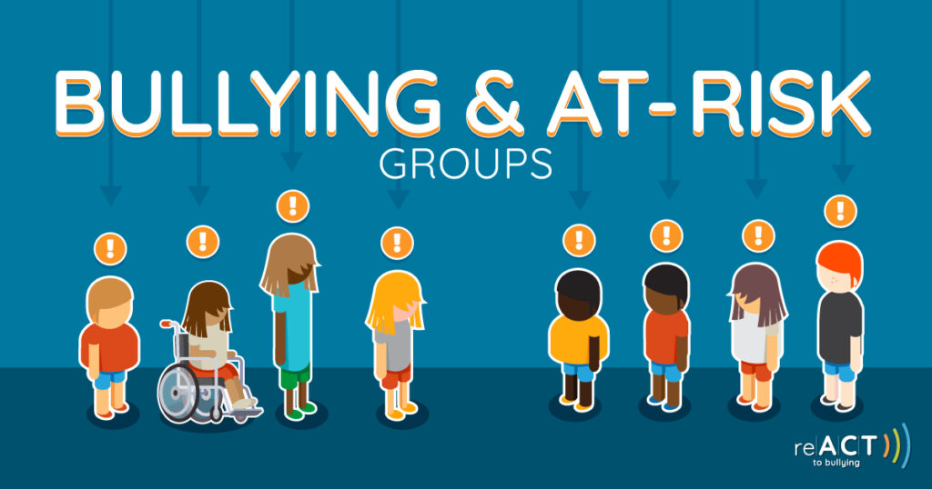 react to bullying and at risk groups