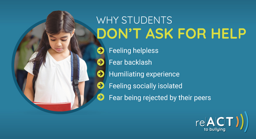 why don't students ask for help when being bullied