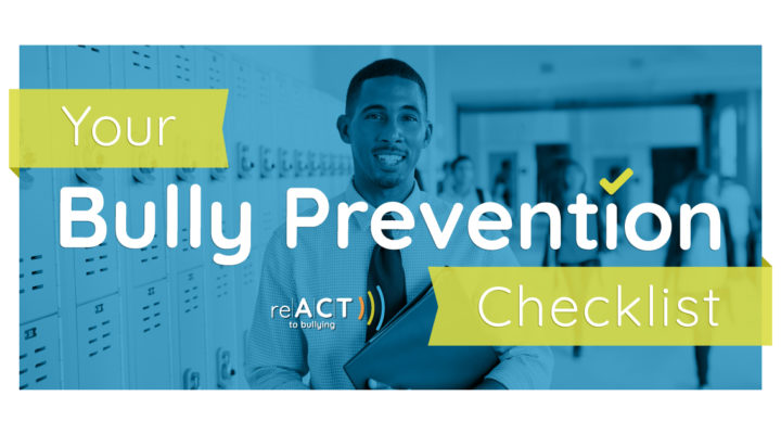 your bully prevention checklist